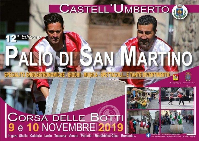 castell'umberto – il 9 e 10 novembre il palio di san martino con la corsa delle botti
