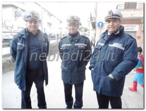Polizia Municipale, all'ingresso della via Sottogrotte