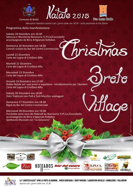 """""""christmas brolo village"""" al via stasera"""