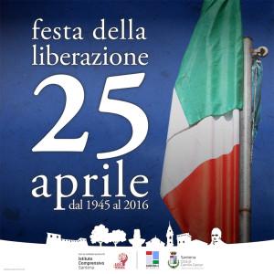 25 aprile – buona festa della liberazione a tutti, pensate che è la vostra festa