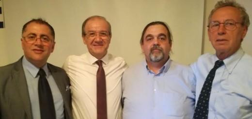 da sx Tindaro Germanelli, Gabriele Rotini, Michelangelo Latino e Mario Filippello