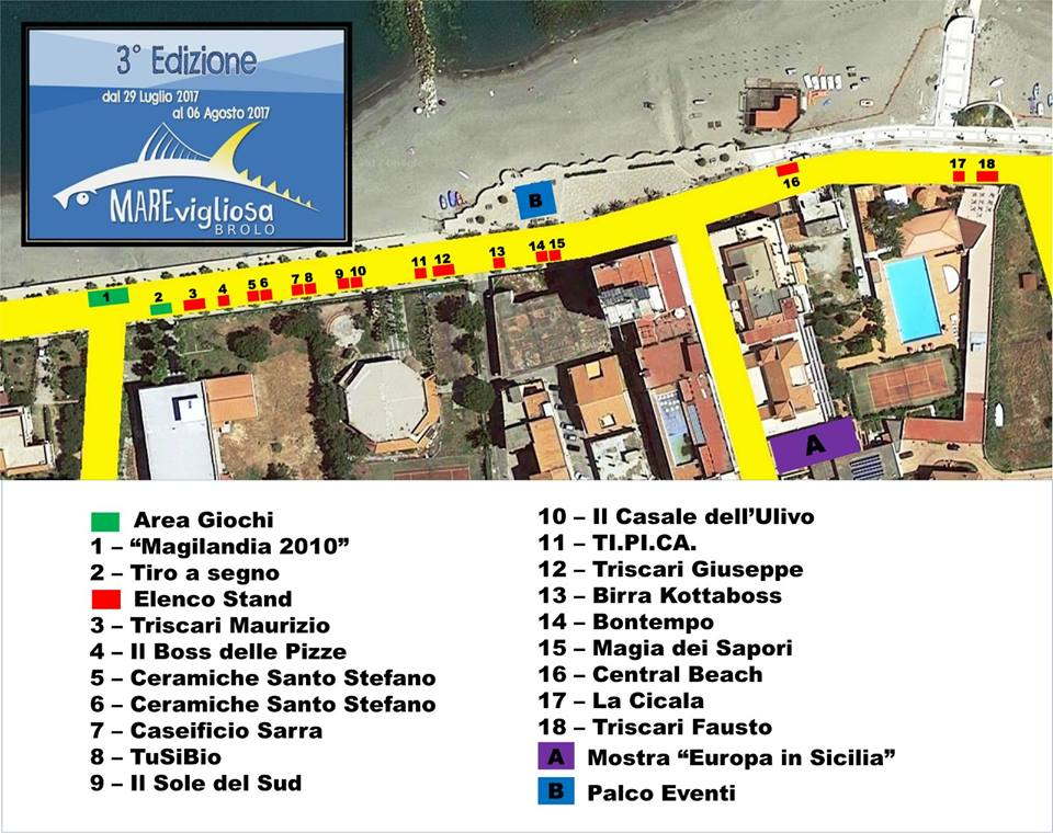 Mappa degli eventi