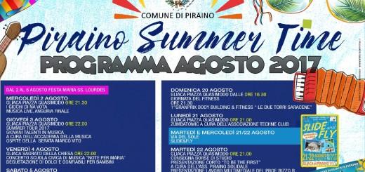 Programma agosto