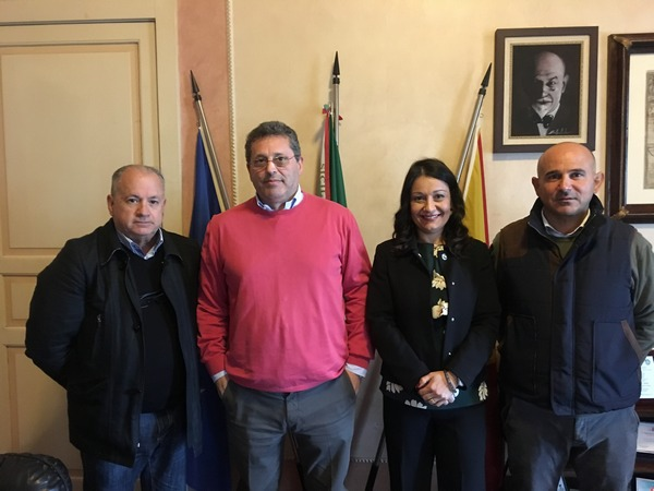 Nella foto* da sinistra nella foto VincenzoMasetta,CarmeloSottile,MelindaRecupero e GiuseppePuleo a PalazzoCrispi)
