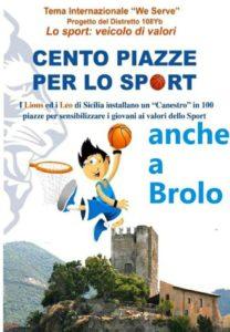 """brolo – """"cento piazze per lo sport"""" , veicolo di valori per i giovani"""