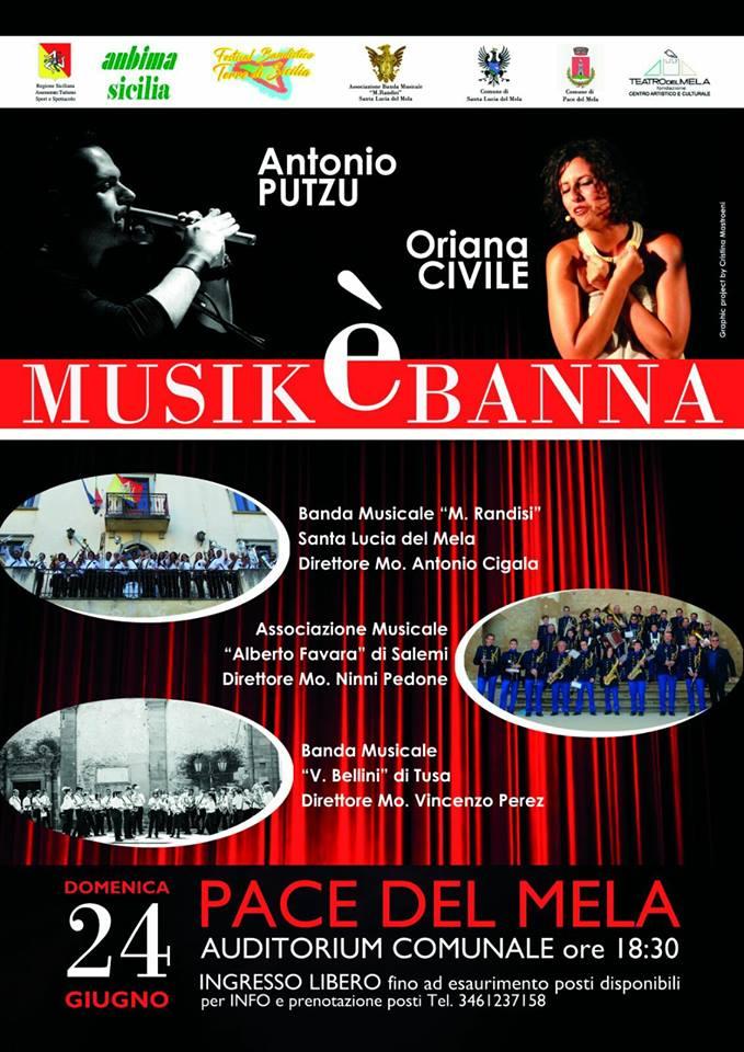 pace del mela –terre di sicilia con musikèbanna, le sonorità bandistiche, domani alle 18.00