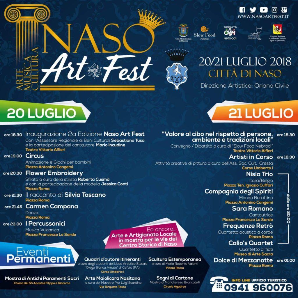 """naso – il 20 e 21 luglio 2018 è """"naso art fest"""""""