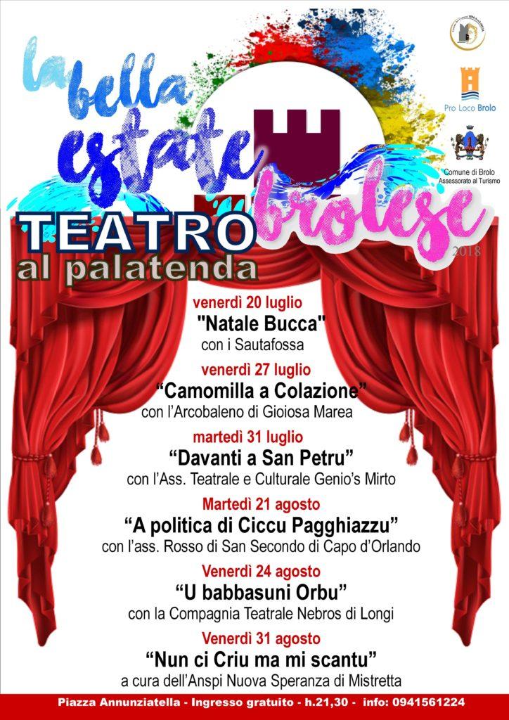brolo – ritorna il teatro al palatenda. le sei commedie fino al 31 agosto