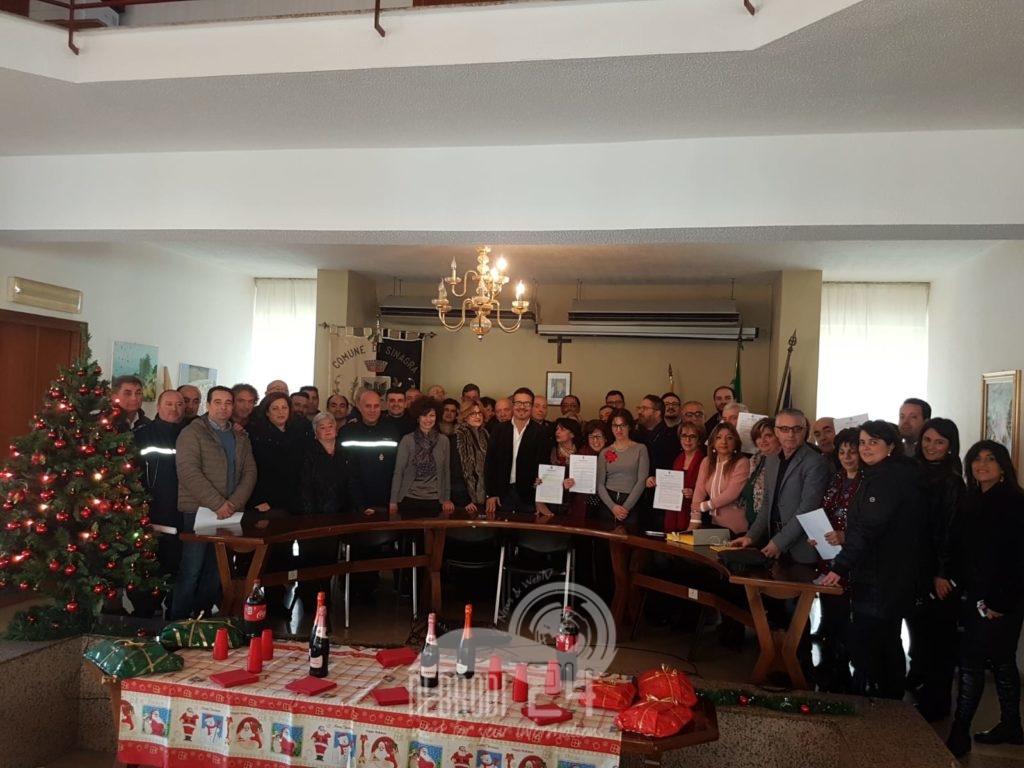 sinagra – 35 ex contrattisti dell'ente, stamattina hanno firmato la loro stabilizzazione