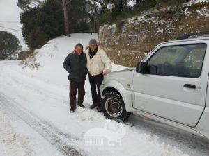 ucria e castell'umberto – duro lavoro dei volontari per affrontare l'emergenza neve