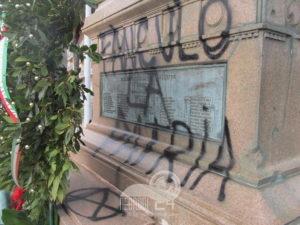 """messina – deturpato il monumento alla """"batteria masotto"""""""