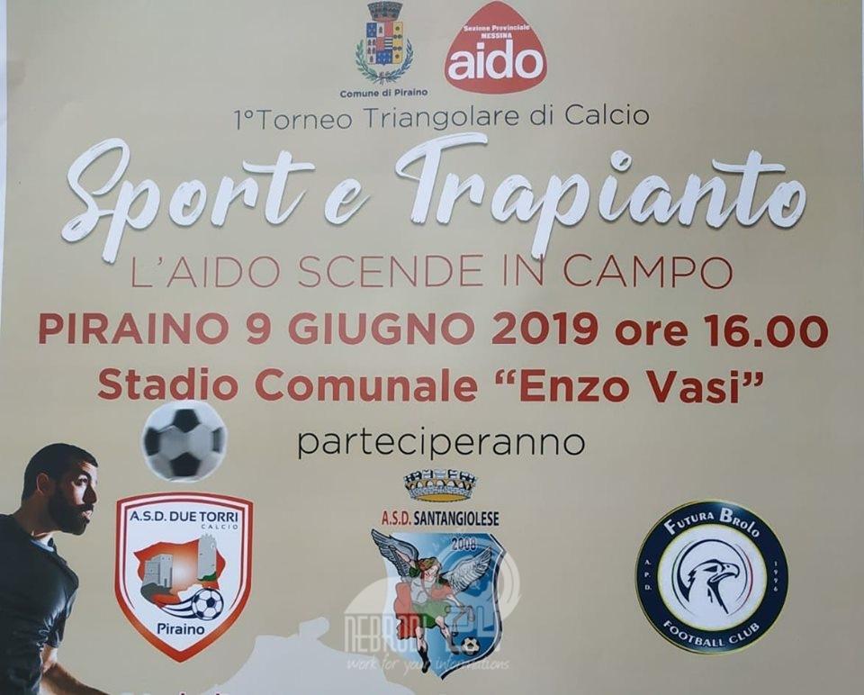 piraino – sport e trapianto triangolare di calcio dedicato a beneficenza e sensibilizzazione