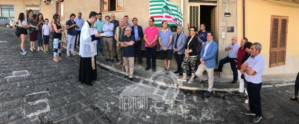 """acquedolci – inaugurata la nuova sede della cisl. """"presidio importante per valorizzare il territorio"""""""