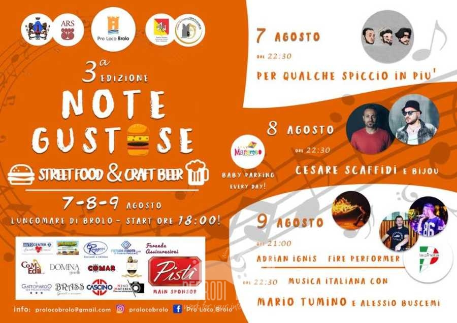"brolo – da stasera sul lungomare ""note gustose – street food & craft beer"""