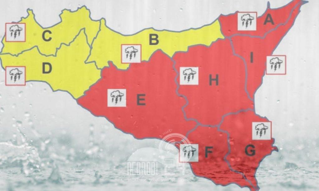 allerta meteo rossa – scuole chiuse in diversi paesi del messinese
