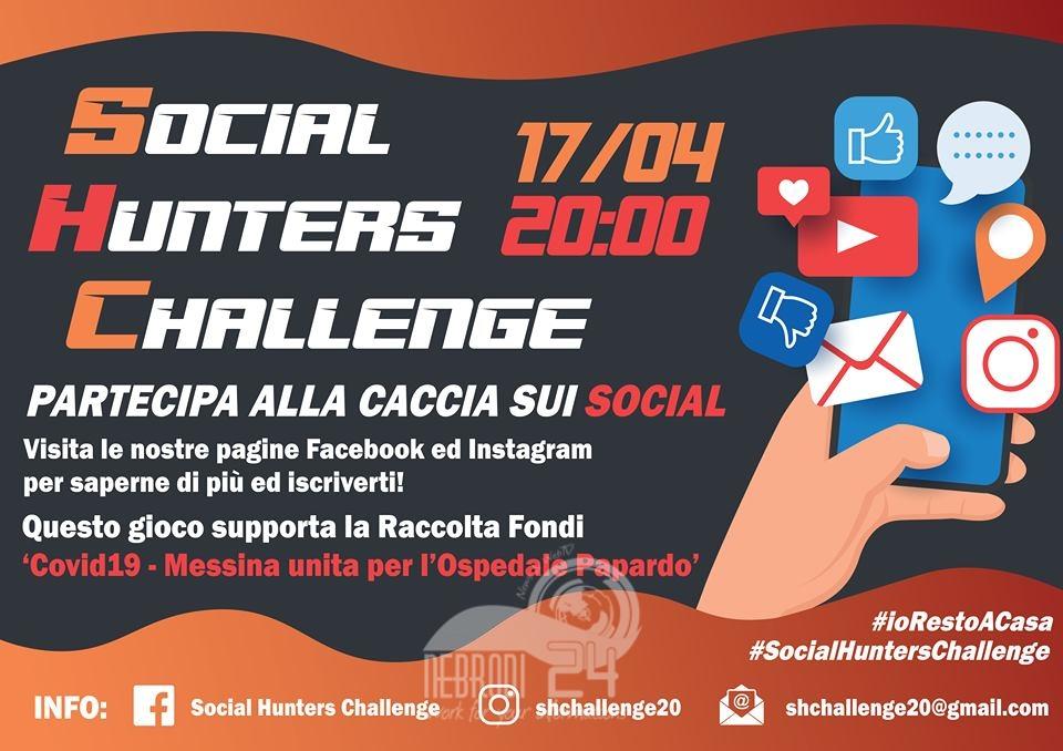 """messina – covid-19: social hunters challenge, """"caccia al tesoro sui social per raccogliere fondi per l'ospedale papardo"""""""