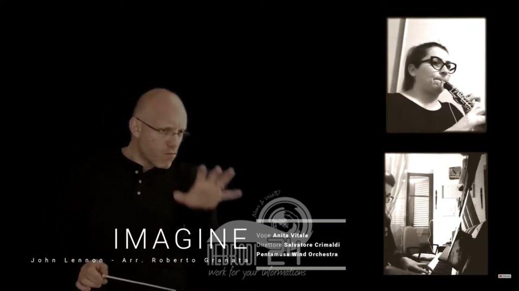 eventi – anita vitale & la pentamusa wind orchestra eseguono (a distanza) imagine di j. lennon
