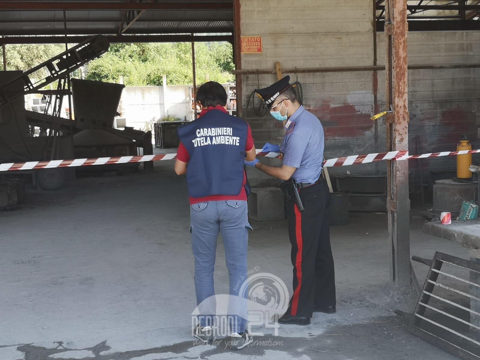 Brolo – Controlli dei Carabinieri su due aziende. Denunciati i titolari per violazione ambientali e sequestrati gli impianti di produzione