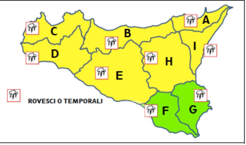 sicilia – maltempo, in arrivo temporali al centrosud: allerta gialla!