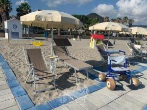 brolo – riapre l'area attrezzata per diversamente abili sulla spiaggia brolese