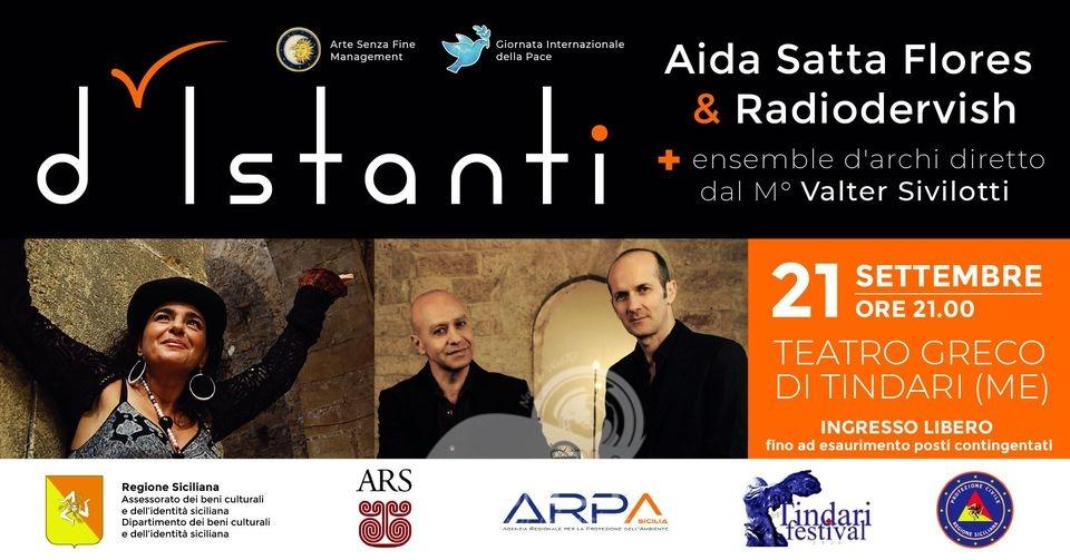 patti – aida satta flores e i radiodervish, oggi per l'anteprima nazionale al  teatro greco di tindari