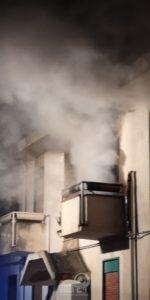 sinagra – incendio in una abitazione della contrada martini.