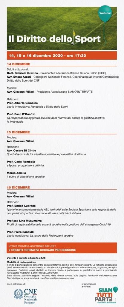 """messina – anche il presidente della figc al webinar """"il diritto dello sport"""""""