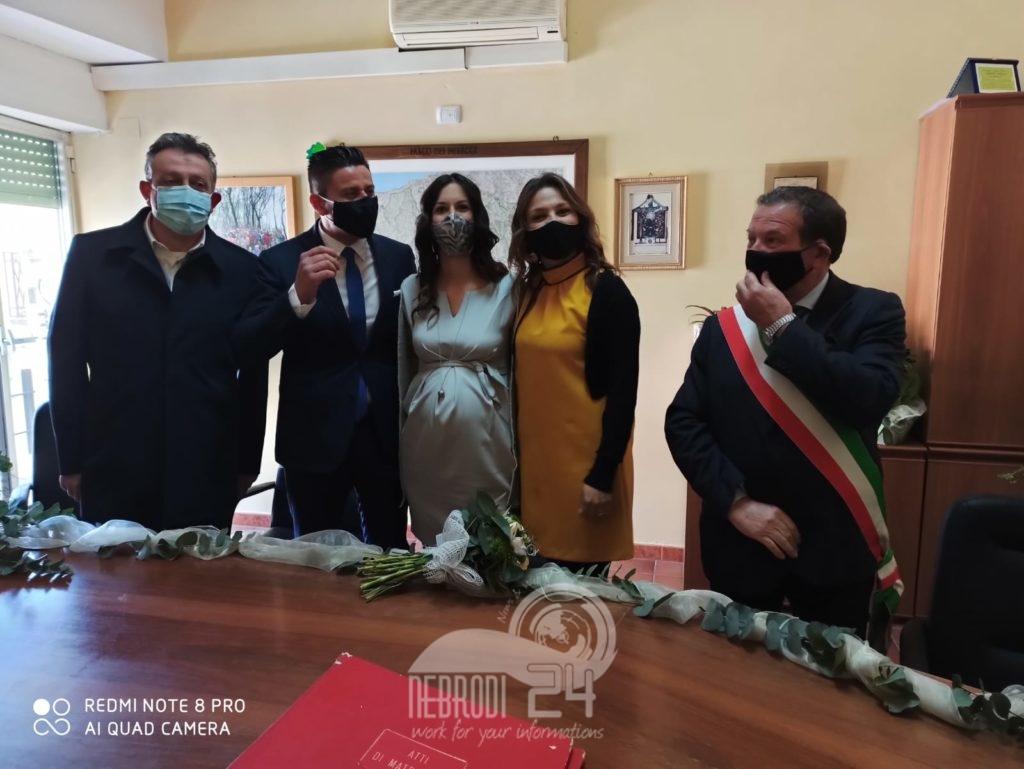 ucria – in municipio le nozze del sindaco enzo crisà con  samanta letizia