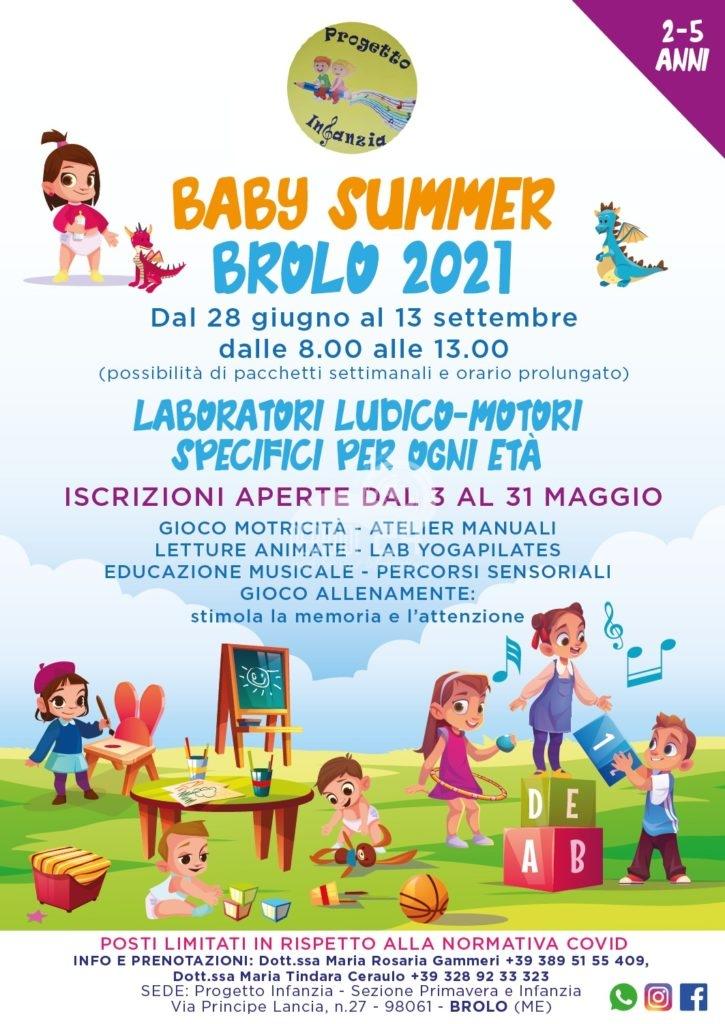 brolo – la scuola paritaria progetto infanzia presenta il suo 'summer baby 2021'