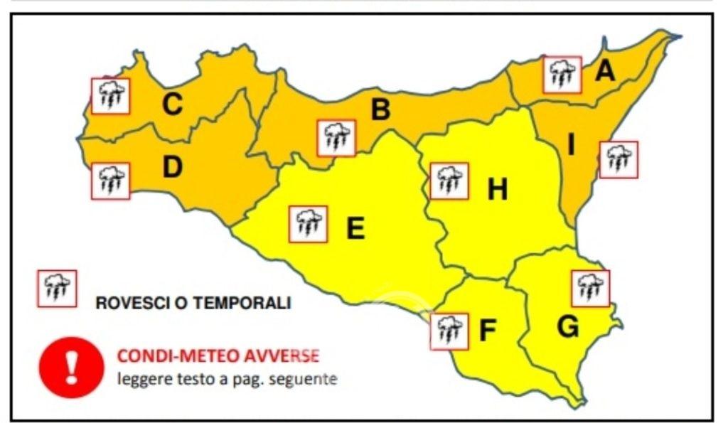 sicilia – allerta meteo protezione civile