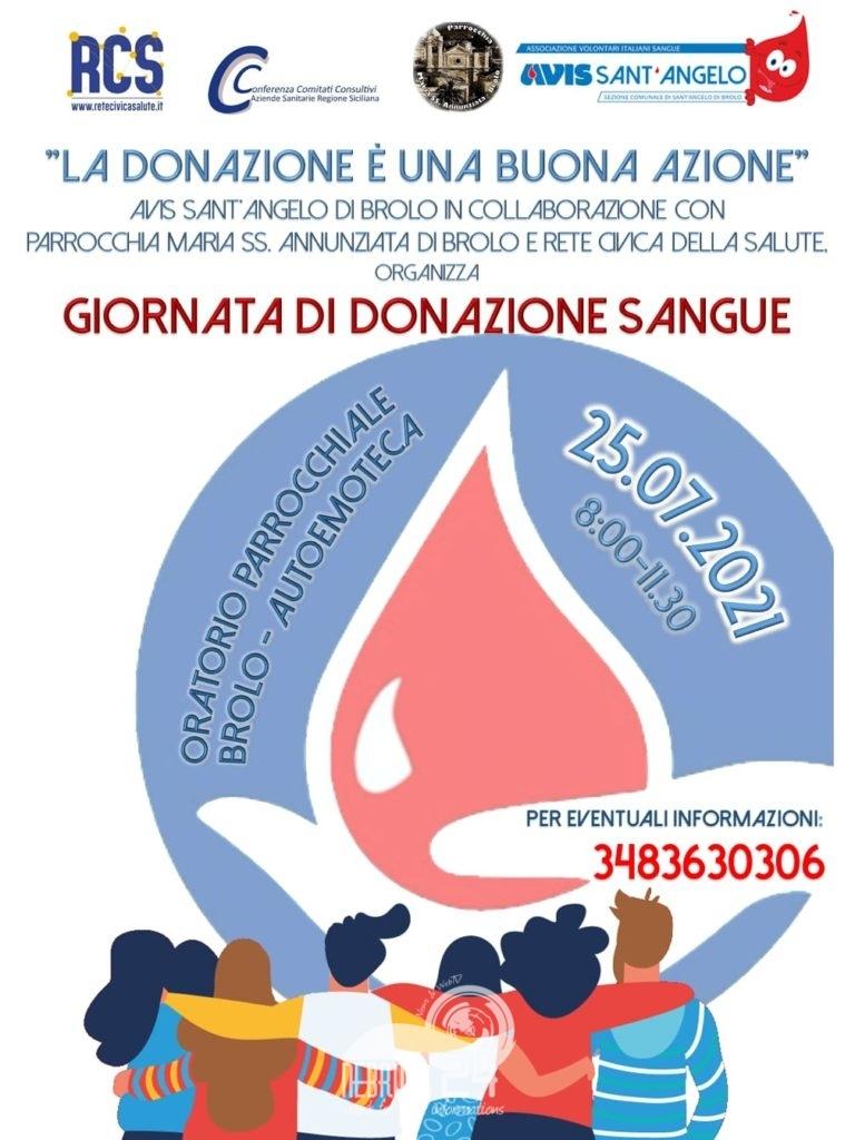"""brolo – avis: domenica all'oratorio parrocchiale """"una giornata di donazione sangue"""""""