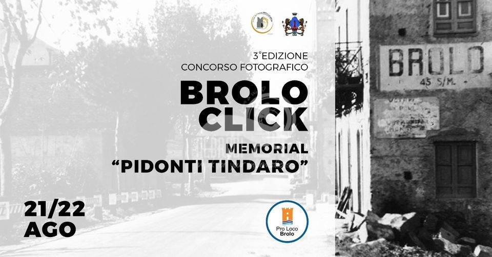 """brolo – terza edizione del concorso fotografico brolo click, memorial """"pidonti tindaro"""""""